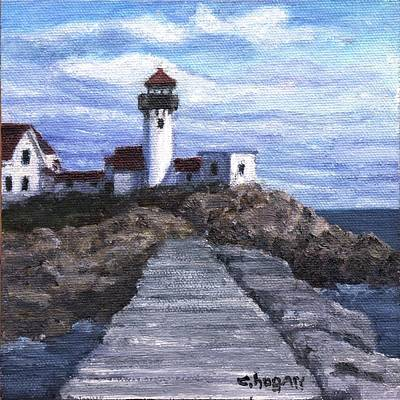 Eastern Point Painting - Eastern Point Lighthouse by Candi Hogan