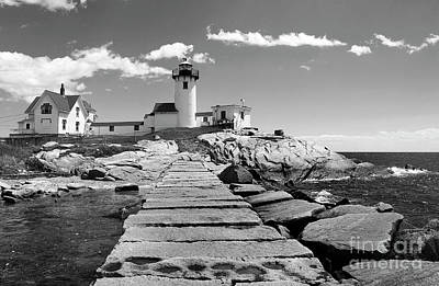 Eastern Point Lighthouse Ma Art Print by Skip Willits