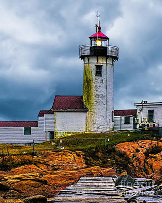 Photograph - Eastern Point Lighthouse by Nick Zelinsky