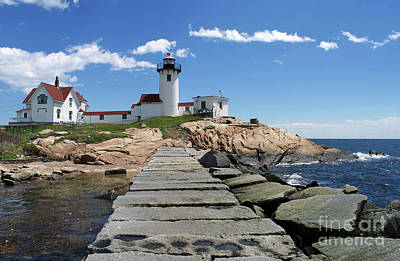 Eastern Point Lighthouse Art Print by Skip Willits