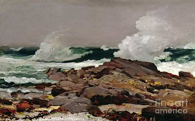 Rock Painting - Eastern Point by Winslow Homer