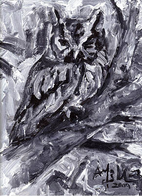 Painting - Eastern Screech-owl by Abby McBride