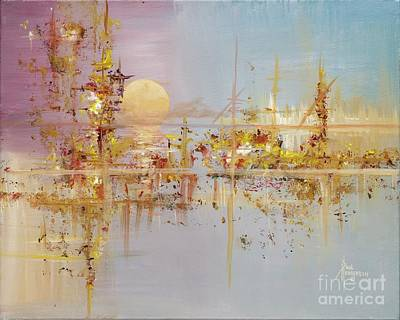 Mystical Landscape Painting - Eastern Sea I by Paul Henderson