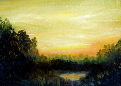 Painting - Eastern Shore Sunrise by Katy Hawk