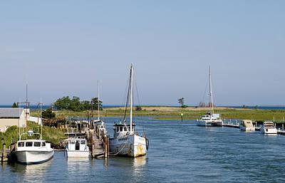Eastern Shore Photograph - Eastern Shore Water Way Tilghman Island Maryland by Brendan Reals