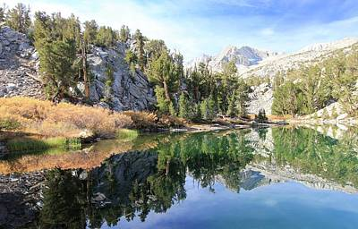 Photograph - Eastern Sierra Autumn Reflection by Sean Sarsfield