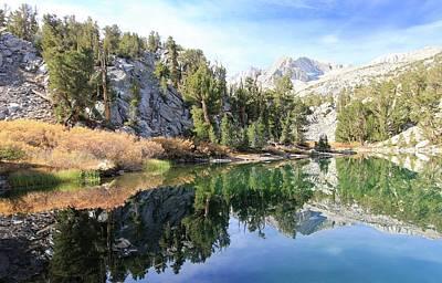 Photograph - Eastern Sierra Autumn Reflection by Sean Sarsfield