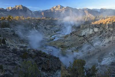 Hot Creek Photograph - Eastern Sierra by Christian Heeb