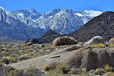 Photograph - Eastern Sierra Nevada Mountains by Ray Mathis