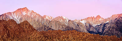 Photograph - Eastern Sierra Sunrise Panorama by Johnny Adolphson