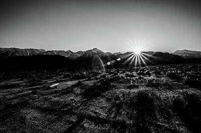 Photograph - Eastern Sierra Sunset In Monochrome by Margaret Pitcher