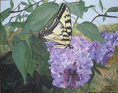 Painting - Eastern Tiger Swallowtail Butterfly by Betty-Anne McDonald