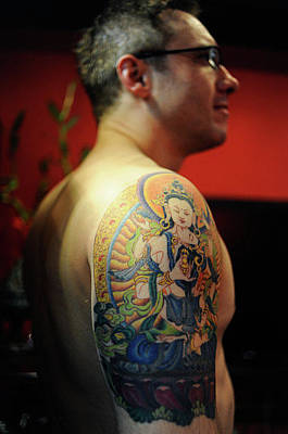 Hong Kong Drawing - Easternly Religious by Tattoo Temple