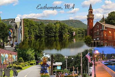 Photograph - Easthampton Ma Collage by Sven Kielhorn