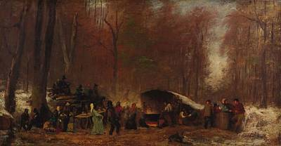 Firefighter Patents - Eastman Johnson - A Different Sugaring Off - circa 1865 by Eastman Johnson