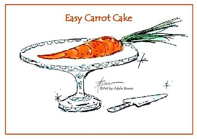 Painting - Easy Carrot Cake  by Adele Bower
