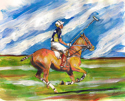Easy Gallop Art Print by Debora Cardaci