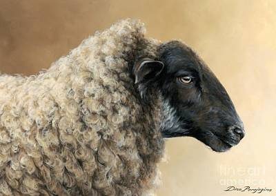 Ovine Painting - Easy Going Ewe by Dina Perejogina