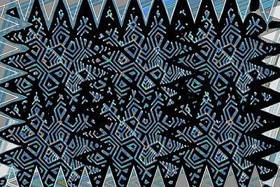 Photograph - Easy Pattern Blueish Abstract by Tom Janca
