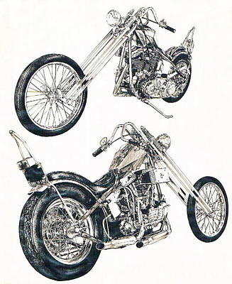 Drawing - Easy Rider by Barbara Keith