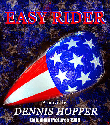 Easy Rider Movie Poster A Art Print by David Lee Thompson