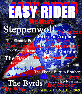 Painting - Easy Rider Music Poster Art by David Lee Thompson