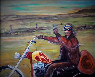 Easy Rider Painting - Easy Rider The End by Marvin Pike