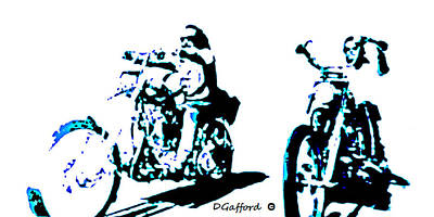 Easy Rider Painting - Easy Riders by Dave Gafford