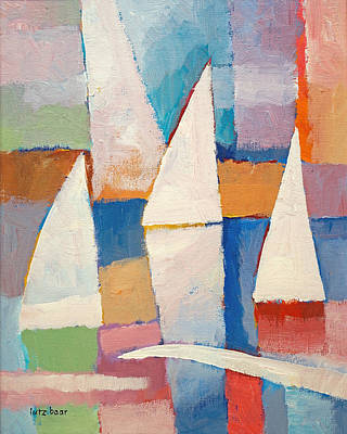 Abstract Seascape Painting - Easy Sailing by Lutz Baar