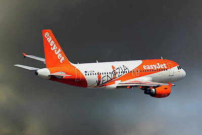 Commercial Photograph - Easyjet Airbus A319-111 by Nichola Denny