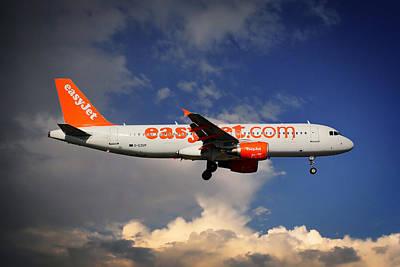 Easyjet Airbus A320-214 Art Print
