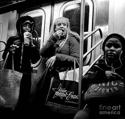 Photograph - Eat And Run - Subways Of New York by Miriam Danar