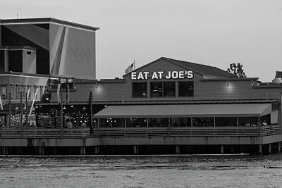Photograph - Eat At Joes In Black And White by Suzanne Gaff