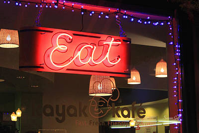 Eat At The Kayak Kafe Art Print