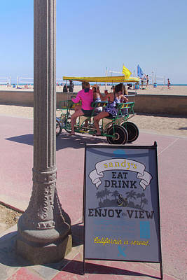 Photograph - Eat, Drink And Enjoy The View - Huntington Beach California by Ram Vasudev