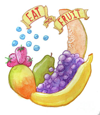 Painting - Eat More Fruit by Whitney Morton