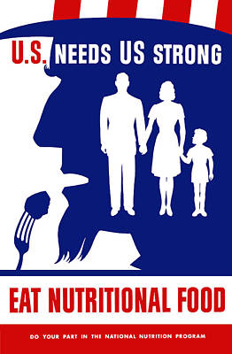 Uncle Sam - Eat Nutritional Food Art Print