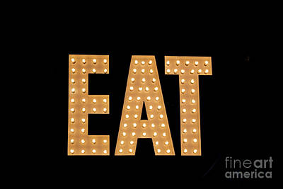 Photograph - Eat Sign by Lynn Sprowl