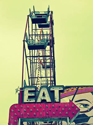 Photograph - Eat Sign by Tony Grider