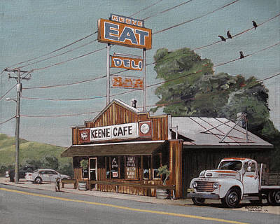 Back Road Painting - EAT by Steve Beaumont