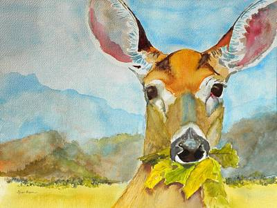 Eat Your Greens Art Print by Kris Dixon