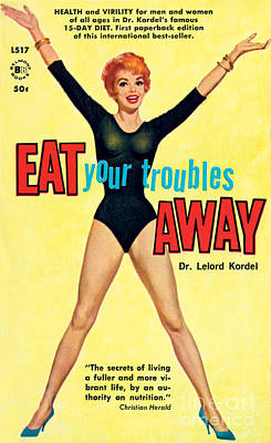 Eat Your Troubles Away Art Print