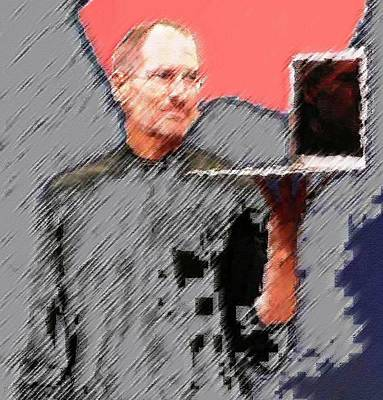 Pietyz Artworkz Painting - Eaten Apple Of Steve Jobs by Piety Dsilva