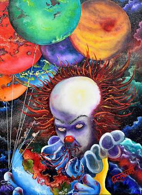 Evil Clown Painting - Eater Of Worlds by Terry Campbell