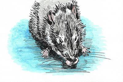 Painting - Eating Rat by Masha Batkova
