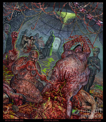 Mixed Media - Eating The Stench by Tony Koehl