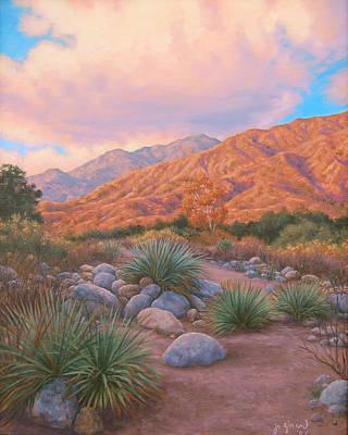 Mountain Sunset Painting - Eaton Canyon Sunset by Johanna Girard
