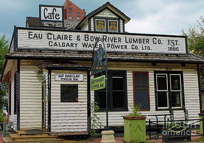 Photograph - Eau Claire And Bow River Lumber Company by Nina Silver