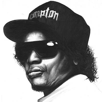 Hop Drawing - Eazy-e by Lee Appleby