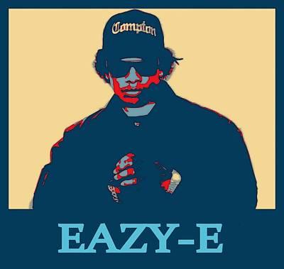 Rap Digital Art - Eazy E Poster by Dan Sproul